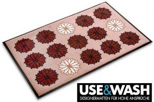 Fußmatte Flower Power - Use & Wash - 3 Größen wählbar, 135x200cm