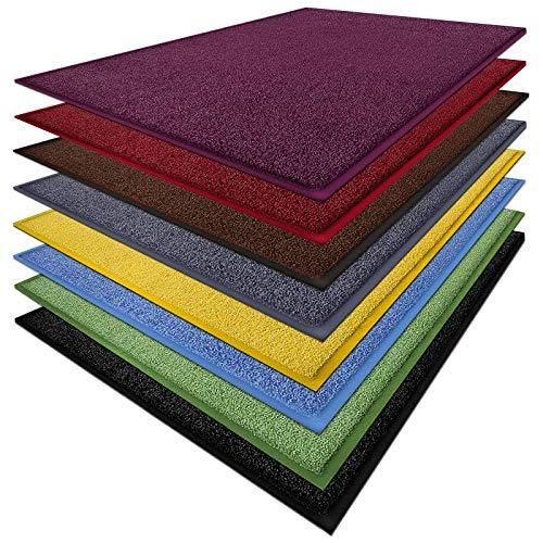 Fußmatte Sky Color | strahlende Farben | Schmutzfangmatte mit Gummirand in passender Farbe | sehr gute Schmutzfangwirkung | Classic Dark Grey (50x85cm)