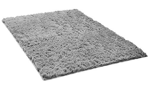 Lukis Antirutschmatte 80x120cm Schmutzfangmatte Waschbar für Innen- und Außen-Bereich Fußmatte Rutschfester Grau-2