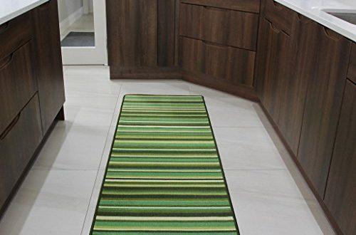 The Rug House Fussmatte und Laeufer Teppiche Gruenen Streifen Rutschfester 500x330 - The Rug House Fußmatte und Läufer Teppiche Grünen Streifen Rutschfester Sauberläufer - 6 Größen verfügbar