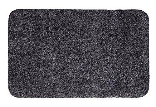 andiamo Fußmatte Samson, waschbare & resistente Türmatte aus 100% Baumwolle, Größe:100x150cm, Farbe:Anthrazit