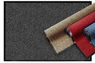 casa pura® Premium Fußmatte   Sauberlaufmatte für Eingangsbereiche   Fußabtreter mit Testnote 1,7   Schmutzfangmatte in 8 Größen als Türvorleger innen und außen   anthrazit - grau   60x90cm