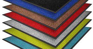 casa pura® Premium Fussmatte in attraktiver Optik Schmutzfangmatte in 310x165 - casa pura® Premium Fußmatte in attraktiver Optik | Schmutzfangmatte in vielen Größen | rot | 90x150cm
