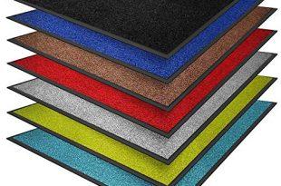 casa pura® Premium Fußmatte in attraktiver Optik | Schmutzfangmatte in vielen Größen | rot | 90x150cm