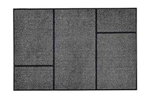 casa pura Moderne Fußmatte GEO   Zeitloses Design mit geometrischem Muster   rutschfeste Schmutzfangmatte mit Bester Reinigungswirkung   Türvorleger in edlem Anthrazit   3 Größen (105x150 cm)