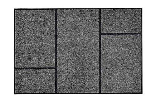 casa pura Moderne Fussmatte GEO Zeitloses Design mit geometrischem 500x330 - casa pura Moderne Fußmatte GEO | Zeitloses Design mit geometrischem Muster | rutschfeste Schmutzfangmatte mit Bester Reinigungswirkung | Türvorleger in edlem Anthrazit | 3 Größen (105x150 cm)