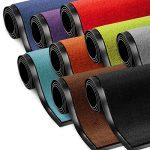 etm Schmutzfangmatte ColorLine | Türmatte in vielen Größen | Fußmatte für Innenbereich | Rutschfester Teppich für Flur, Haustür, Eingang, Eingangsbereich, Vorzimmer - Rot 90x150 cm