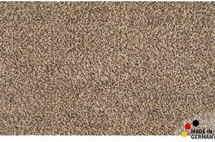 matches21 Fußmatte Bodenmatte Teppich Läufer Baumwolle beige braun meliert 90x150 cm rutschfest waschbar