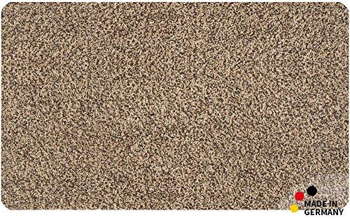 matches21 Fussmatte Bodenmatte Teppich Laeufer Baumwolle beige braun meliert 90x150 - matches21 Fußmatte Bodenmatte Teppich Läufer Baumwolle beige braun meliert 90x150 cm rutschfest waschbar