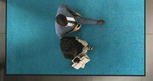 etm Hochwertige Fussmatte schadstoffgeprueft bewaehrte Eingangsmatte in Gewerbe 310x165 - etm Hochwertige Fußmatte | schadstoffgeprüft | bewährte Eingangsmatte in Gewerbe & Haushalt | Schmutzfangmatte mit Top-Reinigungswirkung | Sauberlaufmatte waschbar & rutschfest (60x90 cm, Türkis)