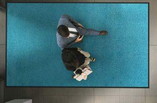 etm Hochwertige Fußmatte   schadstoffgeprüft   bewährte Eingangsmatte in Gewerbe & Haushalt   Schmutzfangmatte mit Top-Reinigungswirkung   Sauberlaufmatte waschbar & rutschfest (60x90 cm, Türkis)