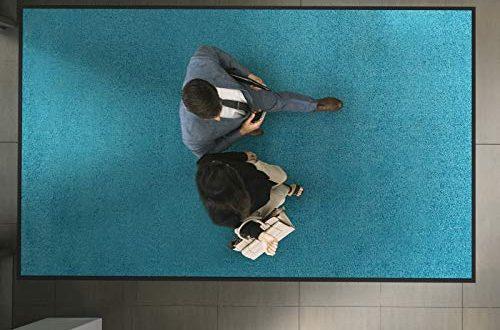 etm Hochwertige Fussmatte schadstoffgeprueft bewaehrte Eingangsmatte in Gewerbe 500x330 - etm Hochwertige Fußmatte | schadstoffgeprüft | bewährte Eingangsmatte in Gewerbe & Haushalt | Schmutzfangmatte mit Top-Reinigungswirkung | Sauberlaufmatte waschbar & rutschfest (60x90 cm, Türkis)
